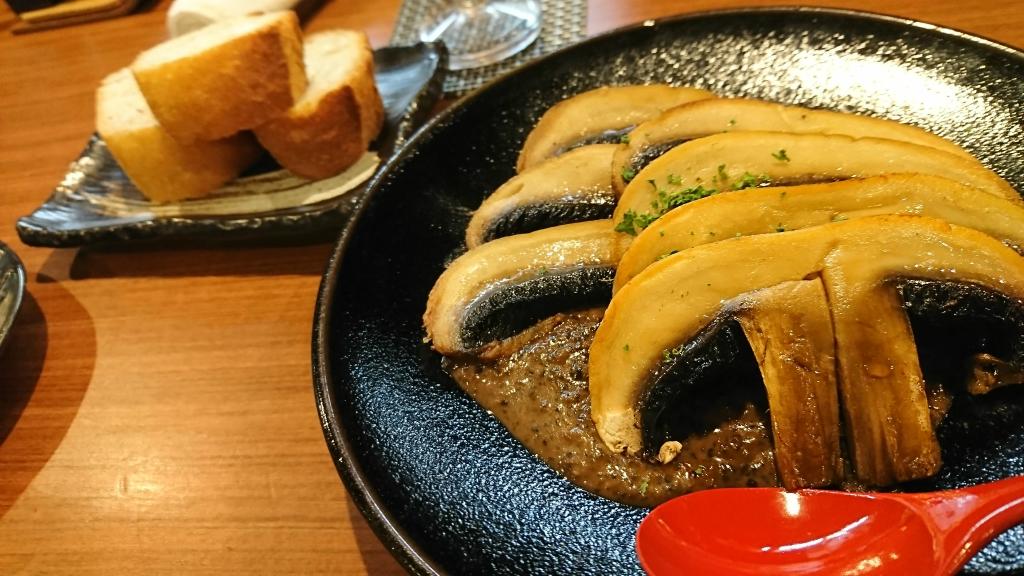 鉄板焼き でかいマッシュルーム
